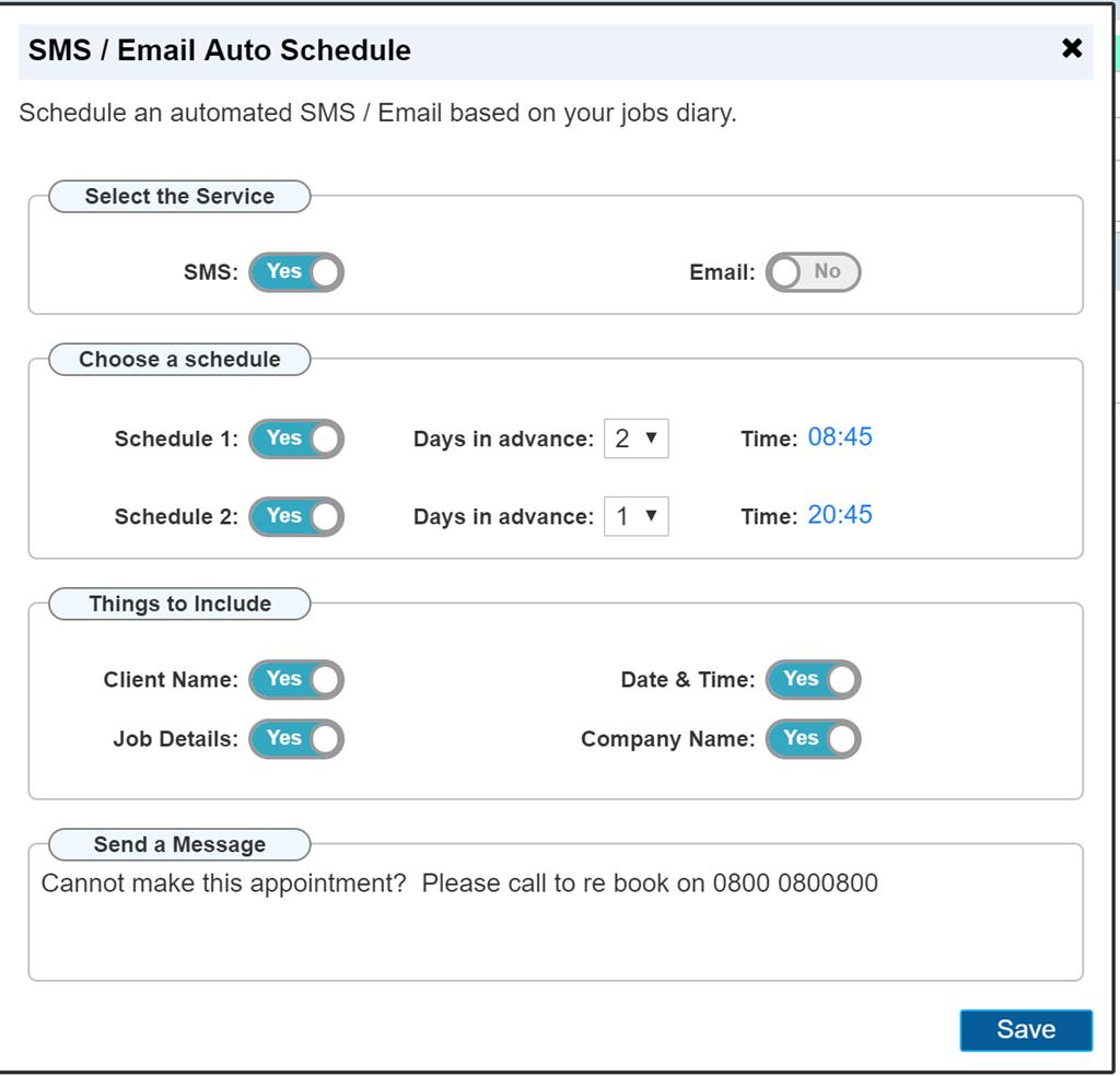 AutoVu Automated SMS Scheduler