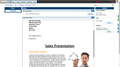 Online Document editor Preview Image