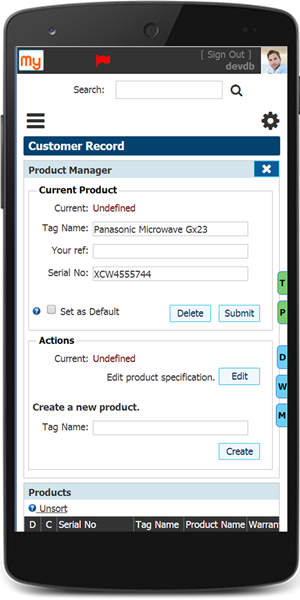 CRM Product Manager on Mobile Device